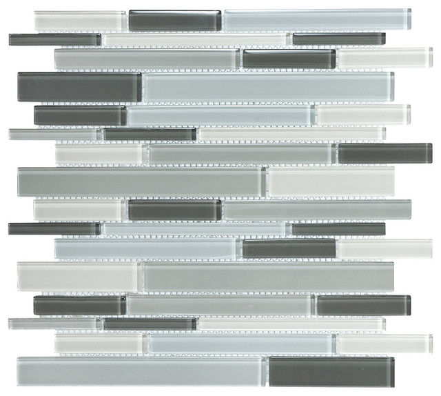 Gray Glass Wall Tile Modern Tile Other Metro By Lowe 39 S Home Impro