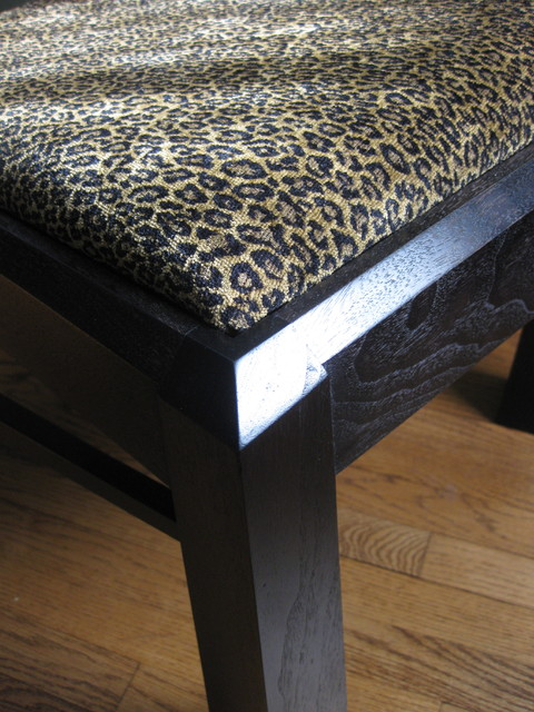 Modern Dining Chair with Slip Seat eclectic