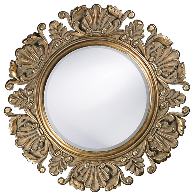 Vintage Style Round Framed Mirror Contemporary Mirrors