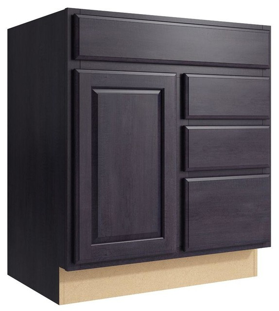 Cardell Cabinets Salvo 30 In W X 34 In H Vanity Cabinet Only In Ebon Smoke Contemporary