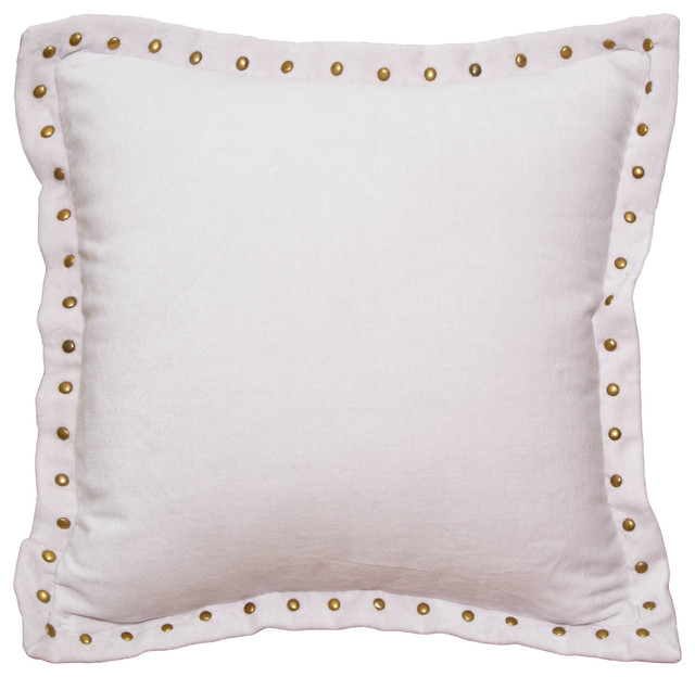 pale pink studded velvet throw pillow contemporary decorative pillows san francisco by. Black Bedroom Furniture Sets. Home Design Ideas
