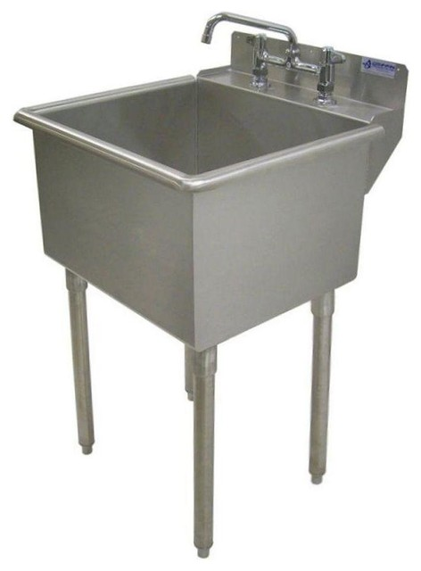 Griffin Products Utility Sinks LT-Series 24x24 Stainless Steel Freestanding - Contemporary ...