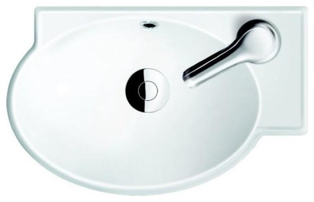 Round Ceramic Corner Sink contemporary-bathroom-sinks