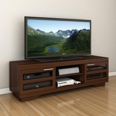 Sonax B-097-RGT Granville 66 in. Wood Veneer TV Bench - Warm Cinnamon modern-media-storage