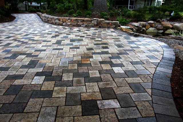 6 X 9 Herringbone Paver Patio