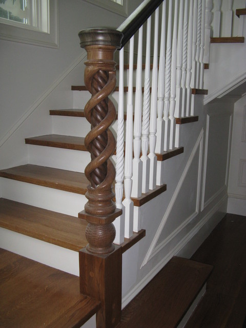 Hollow Twist Newel Post Modern New York By Turntech