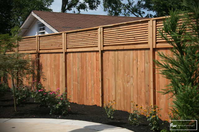 The stanton wood privacy fence home fencing and gates for Garden privacy wall ideas
