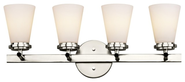 """Contemporary Forecast Town and Country 25"""" Nickel Bathroom Light Fixture contemporary-bathroom-lighting-and-vanity-lighting"""