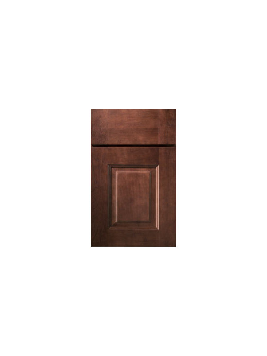 Cherry Door Styles from Wellborn Cabinet, Inc. - Vienna Cherry embraces quality with solid wood construction and a three piece drawer front featuring vertical grains on the stiles and horizontal grains on the rails. Shown here in our Sable Finish.