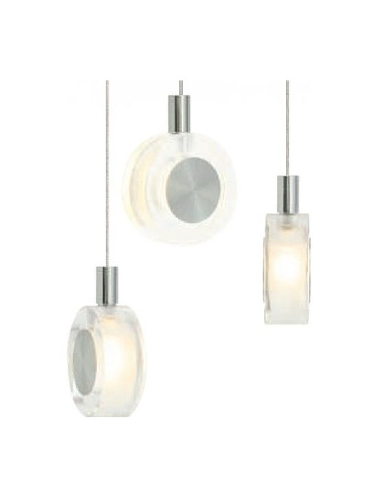 """LBL Lighting - LBL Lighting Bling low voltage pendant lamp - Products description: The Bling low voltage pendant lamp from LBL Lighting is designed by LBL Lighting and made in the USA. The Bling low voltage pendant lamp is made for domestic and commercial use and comes with mounting options FSJ, MPT, MR2 and MRL. This fixture is a disc of transparent crystal with sandblasted interior and decorative metal accents. This fixture has 6 feet of field-cuttable cord and is available in a clear color with a satin nickel finish. This fixtureis compatible with the LBL Single Circuit Monorail, LBL Two-Circuit Monorail, or LBL Fusion Jack Canopies.  Products description: The Bling low voltage pendant lamp from LBL Lighting is designed by LBL Lighting and made in the USA. The Bling low voltage pendant lamp is made for domestic and commercial use and comes with mounting options FSJ, MPT, MR2 and MRL. This fixture is a disc of transparent crystal with sandblasted interior and decorative metal accents. This fixture has 6 feet of field-cuttable cord and is available in a clear color with a satin nickel finish.  This fixture is compatible with the LBL Single Circuit Monorail,LBL Two-Circuit Monorail, or LBL Fusion Jack Canopies.                                     Manufacturer:                                      LBL Lighting                                                     Designer:                                      LBL Lighting                                                     Made  in:                                     USA                                                     Dimensions:                                      Height: 3.2"""" (8.1m) X Width: 2.4"""" (6.1cm)                                                     Light bulb:                                      1 X 10W G4 Bi-Pin Xenon                                                     Material                                      Metal, glass"""