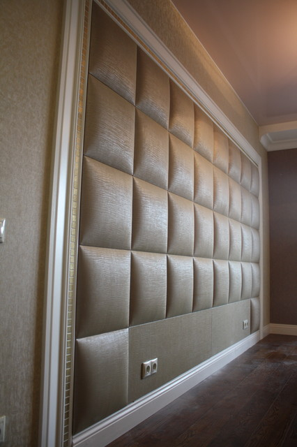 Leather wall panel transitional