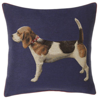 "Tapestry Dog Pillow, 18""Sq. traditional-decorative-pillows"