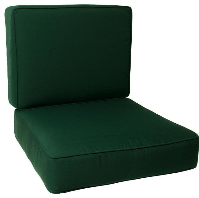 Large Replacement Club Chair Cushion Set With Piping  : modern seat cushions from www.houzz.com size 640 x 634 jpeg 33kB