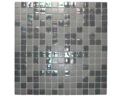 Mixed Silver Glimmer Glass Tile modern kitchen tile