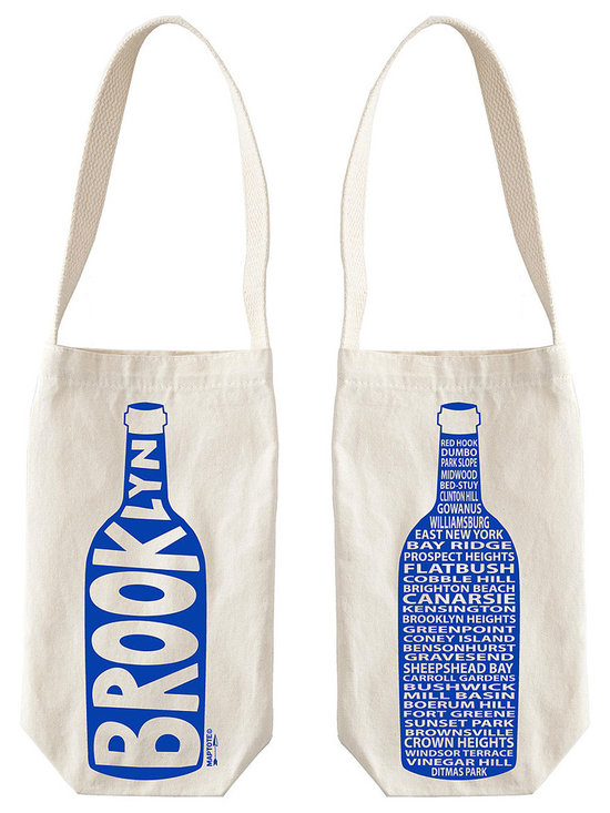 Single Wine Tote, Cities -
