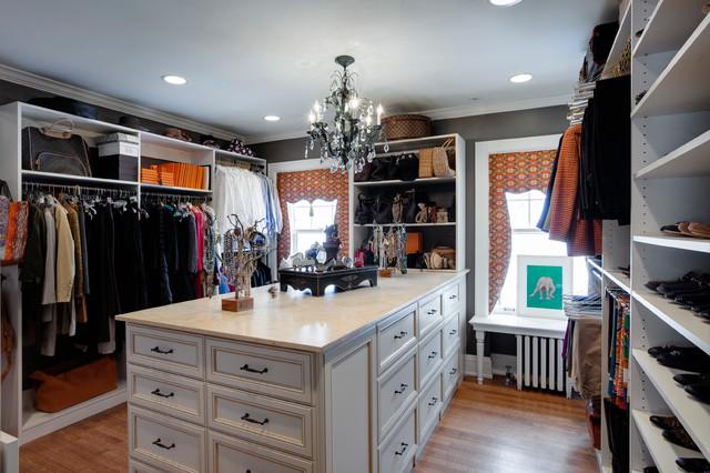 Elegant walk in closet barrington il transitional for Elegant walk in closet