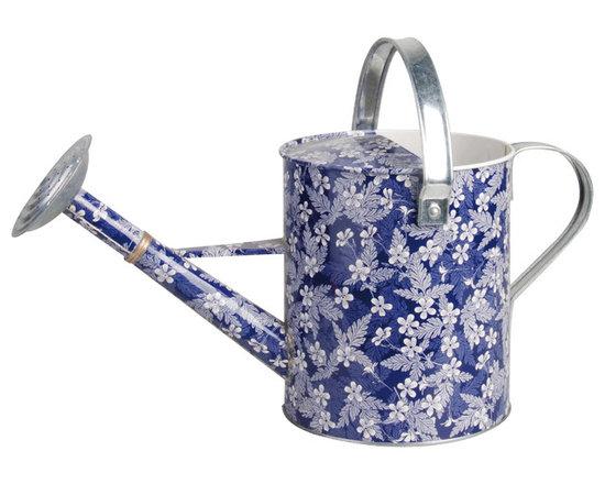 Esschert Design - Blue Blossom Watering Can - Blue Blossom design watering can.