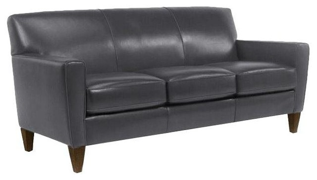 Flexsteel Quot Digby Quot Leather Sofa Contemporary Sofas By