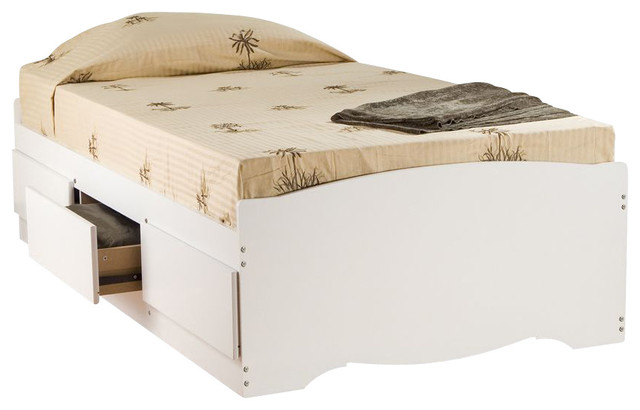 Prepac White Twin Mate's Platform Storage Bed with 3-Drawers traditional-storage-and-organization