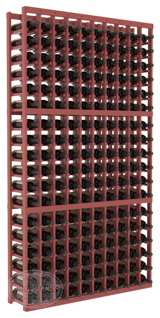 10 Column Standard Cellar Kit in Pine with Cherry Stain + Satin Finish traditional-wine-racks