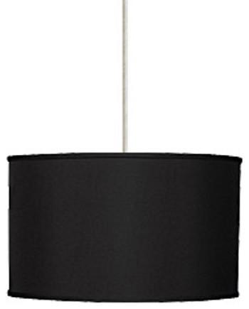 Lexington Black Four-Light Pendant with Satin Nickel Canopy contemporary-pendant-lighting
