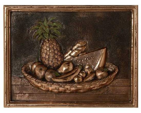 Metal mural for kitchen backsplash - Available in 3 metal finishes: Copper, brass and nickel
