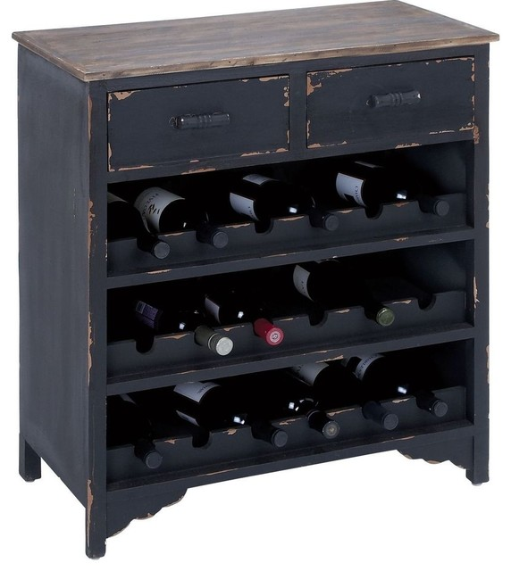 Wooden Wine Cabinet with Additional Storage Space farmhouse-wine-racks