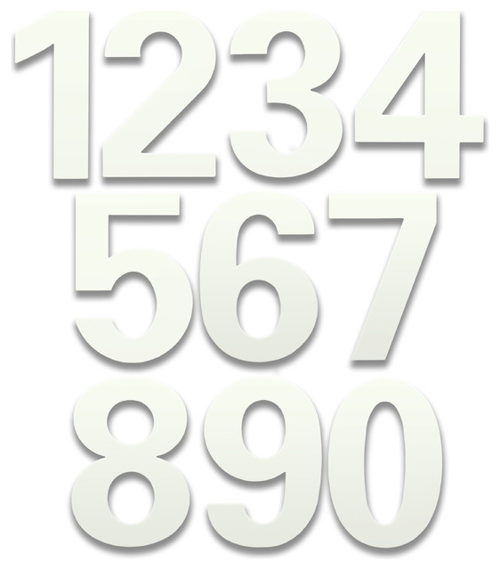 bFuller Marshmallow White House Numbers contemporary-house-numbers