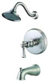 Pegasus 873-5104 Verdanza Single Handle Tub and Shower Faucet in Brushed Nickel traditional bathroom faucets