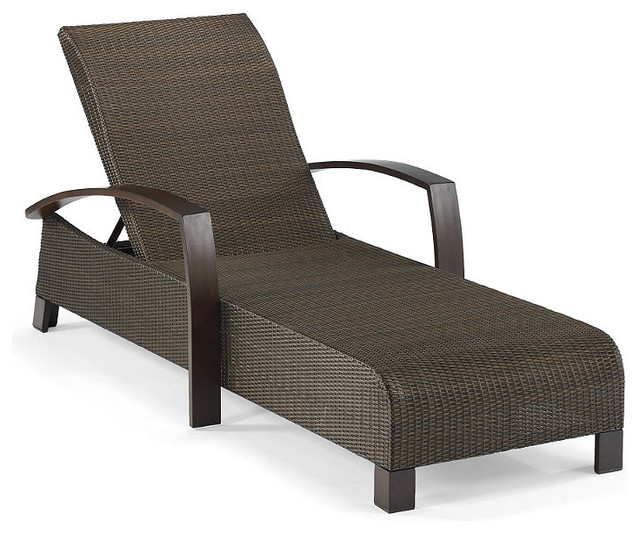 Del Mar Outdoor Chaise Lounge Traditional Outdoor Chaise Lounges by FRO