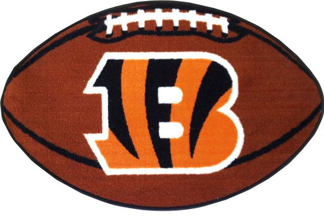 Nfl Cincinnati Bengals Football Accent Shaped Rug