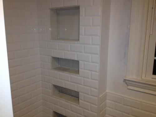 Bathroom Niche For Beveled Subway Tile