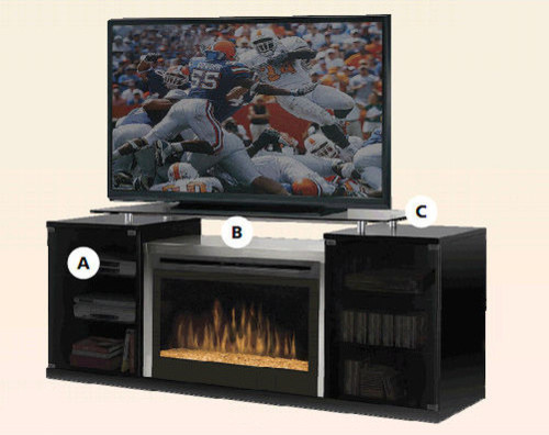 marana 76 tv stand with electric fireplace modern