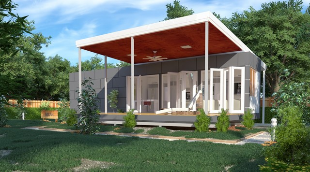 Milan granny flats one bedroom modular home modern for Modular granny flats