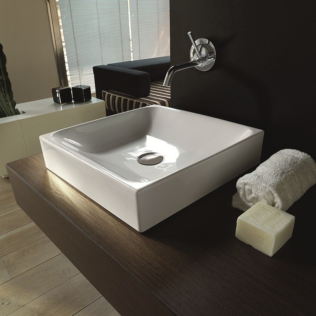 Countertop Lavatory Sink : ... Counter Top Ceramic Sink 17.7