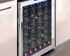 Vinotemp - 54-Bottle Touch Screen Mirrored Wine Cooler contemporary-beer-and-wine-refrigerators