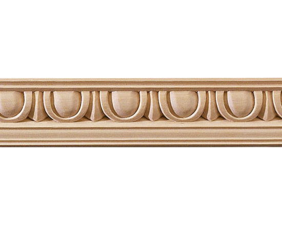 "Inviting Home - Egg-and-Dart Carved Crown Molding - cherry - cherry hardwood crown molding 1-3/4""H x 1-3/4""P x 2-1/2""F sold in 8 foot length (3 piece minimum required) Wood panel molding with corners specification: Outstanding quality panel molding profile carved from high grade kiln dried solid bass or red oak hardwood. Moldings are machine carved for accuracy of alignment of the panel molding with the corners. Panel molding and corners sold unfinished and can be easily stained painted or glazed. The installation of the wood molding should be treated the same manner as you would treat any wood molding: all molding should be kept in a clean and dry environment away from excessive moisture. acclimate wooden moldings for 5-7 days. when installing wood moldings it is recommended to nail molding securely to studs and glue all mitered corners for maximum support."