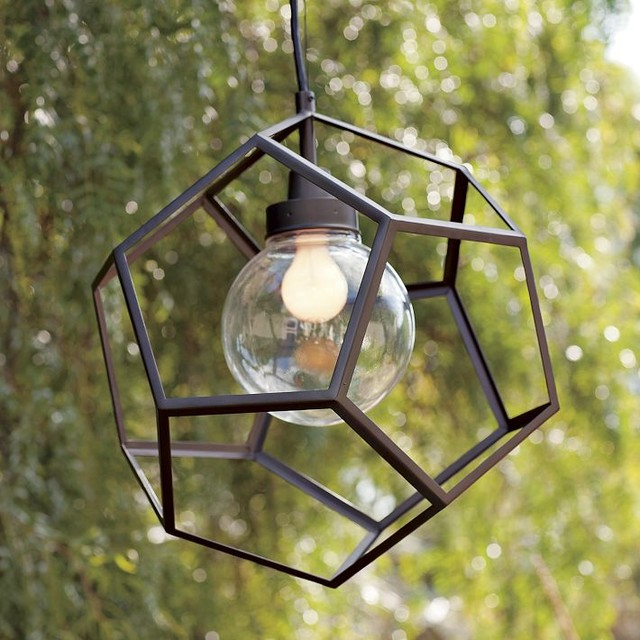 Polyhedron Pendant Contemporary Outdoor Hanging Lights By West Elm