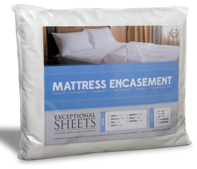 ExceptionalSheets Mattress Encasement Waterproof Bed