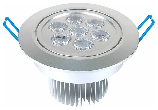 7w dimmable cree led recessed lighting recessed lighting kits. Black Bedroom Furniture Sets. Home Design Ideas