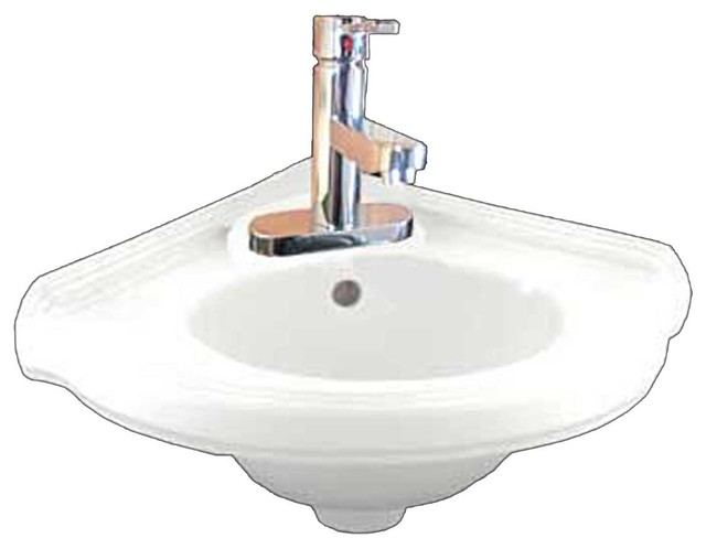 Bathroom Sink Trap : ... Portsmouth Faucet/Drain/p-trap Corner Sink contemporary-bathroom-sinks