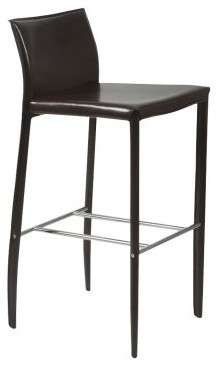 Euro Style Shen 30 in. Leather Bar Stool - Set of 2 contemporary-bar-stools-and-counter-stools