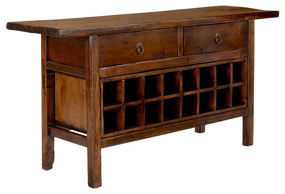 Vintage Chinese Wine Console Cabinet - Traditional - Wine And Bar Cabinets - by Wisteria