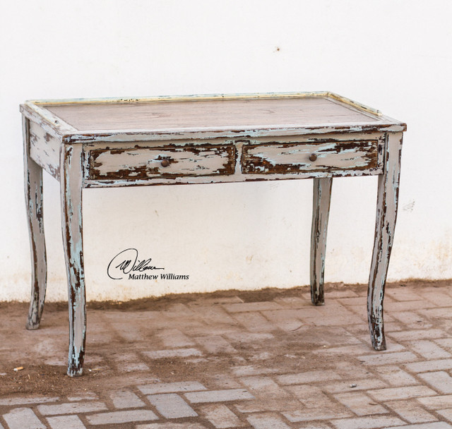 Honovi rustic wood shabby chic writing desk beach style
