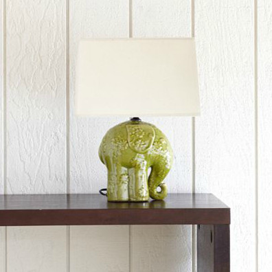 Elephant Ceramic Table Lamp eclectic table lamps