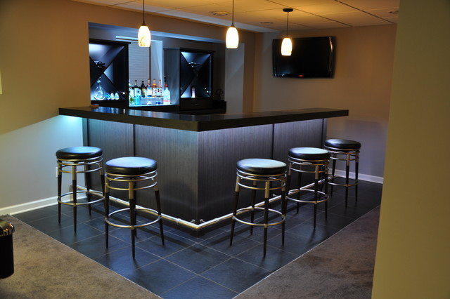 Wet bars - Basement wet bar design ...