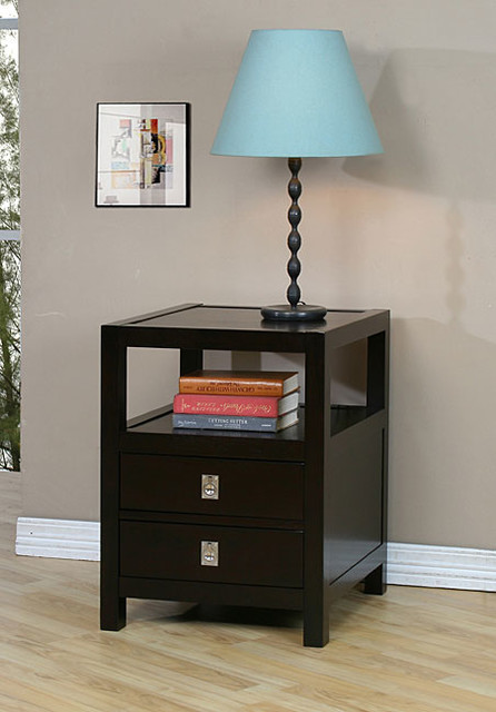Norwich Two-drawer Side Table contemporary-side-tables-and-end-tables