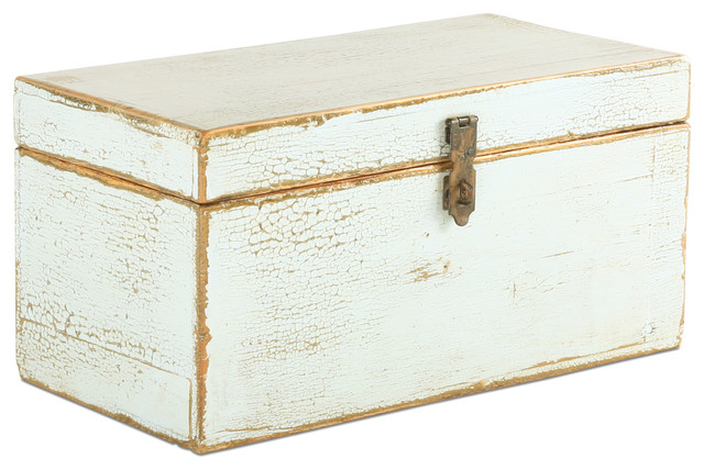 Vintage Light Blue Wooden Box storage-bins-and-boxes