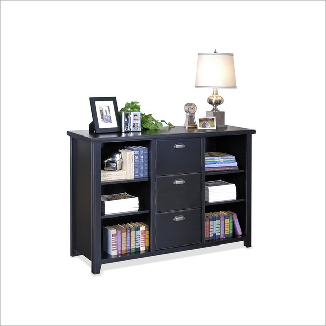 Kathy Ireland Home by Martin Furniture Tribeca Loft 3 Lateral File Bookcase - Contemporary ...