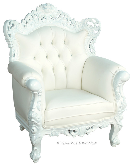 Fabulous and Baroque's Belle de Fleur chair eclectic-living-room-chairs